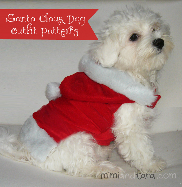 Santa claus dog & Santa Claus dog outfit patterns | FREE PDF DOWNLOAD