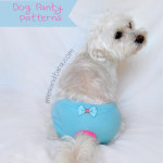 Dog sanitary panty patterns