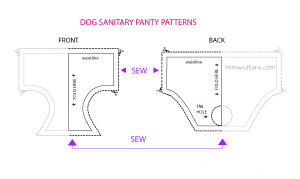 dog sanitary panty free patterns