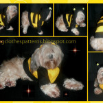 Bumble bee dog costume patterns