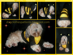 dog bee costume patterns free