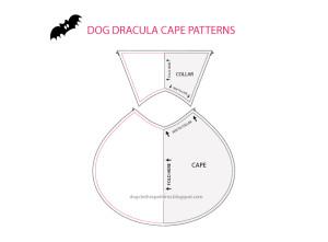 dog dracula cape patterns