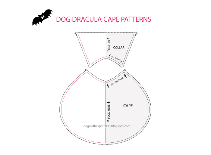 Count dracula dog cape patterns | FREE PDF DOWNLOAD