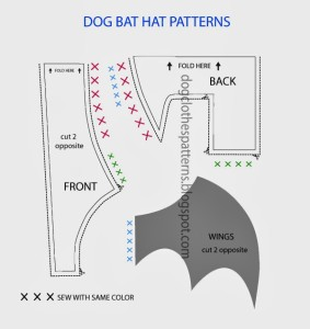 Dog bat wings patterns