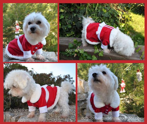 Free dog christmas dress