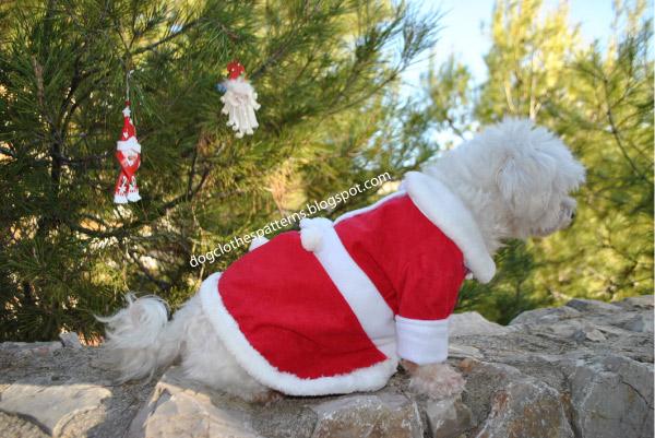 Sew dog christmas dress