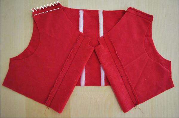 Sew shoulders dress