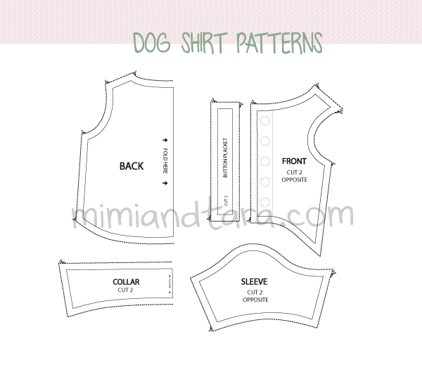 Dog shirt patterns