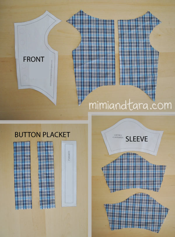 Shirt patterns cut