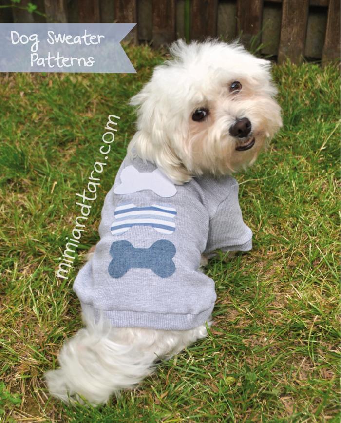 Dog sweater pattern pdf pattern mimi tara for Dog coat template