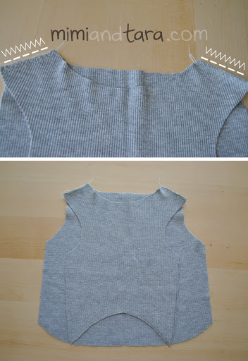 Sewing sweater shoulders
