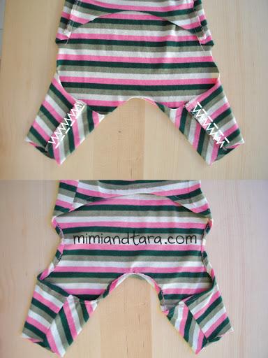Sewing dog pajamas