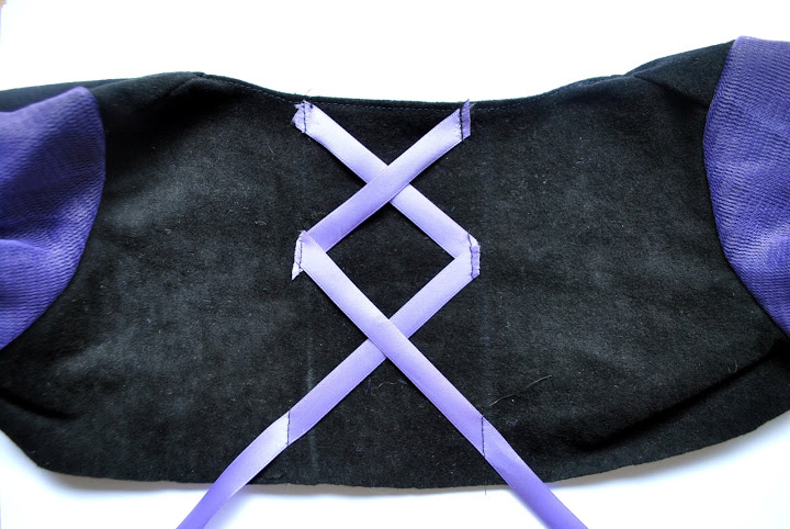 Sew ribbon bodice