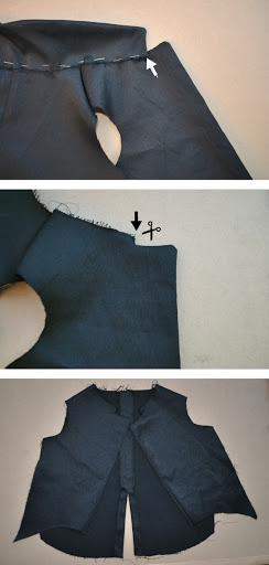 Sew jacket tuxedo