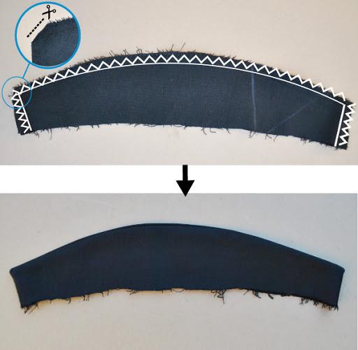 Tuxedo collar pattern