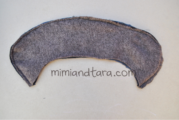 Coat collar pattern