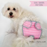 Dog diaper pattern