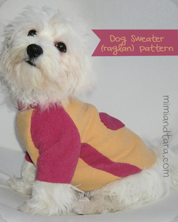 Dog Sweater Patterns Raglan Sleeve Mimi Tara