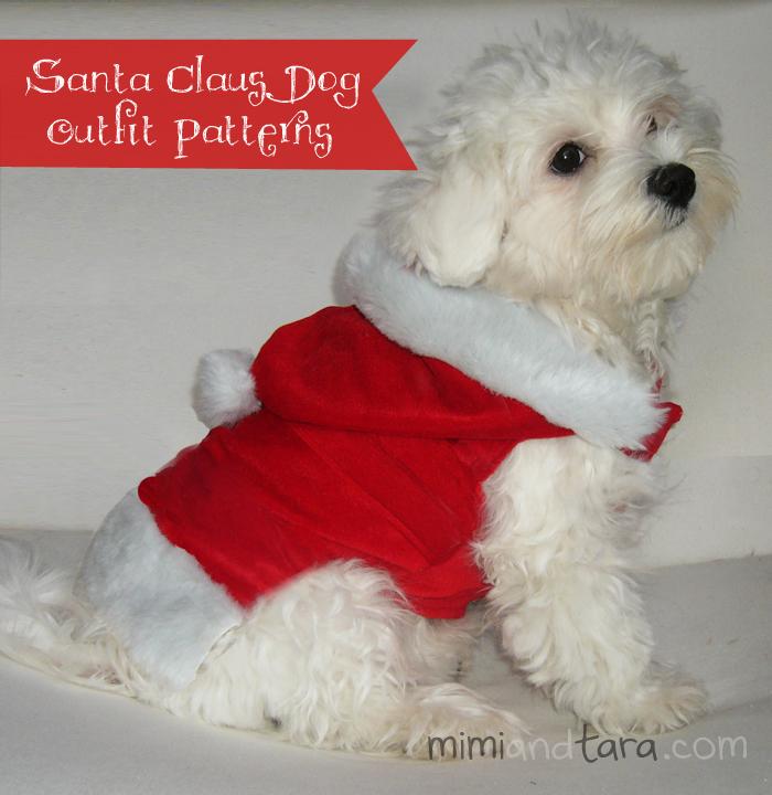 Santa Claus dog outfit patterns | FREE PDF DOWNLOAD