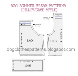 Dog Summer Dress Patterns Pillowcase Style Free Pdf Download