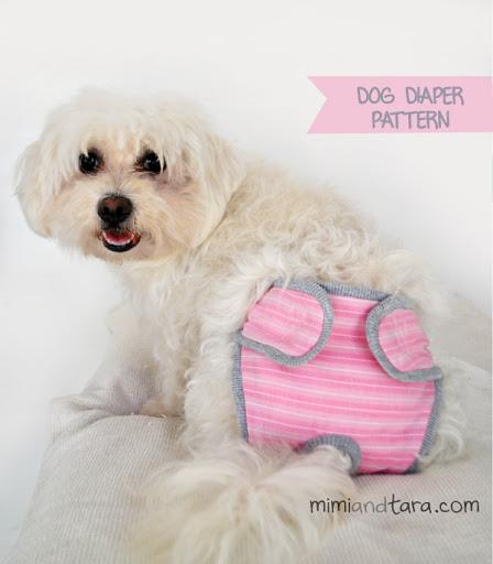 Pink dog diaper | DIY Dog Clothes And Coats You Should Make