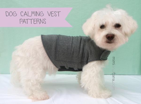 Dog calming vest patterns
